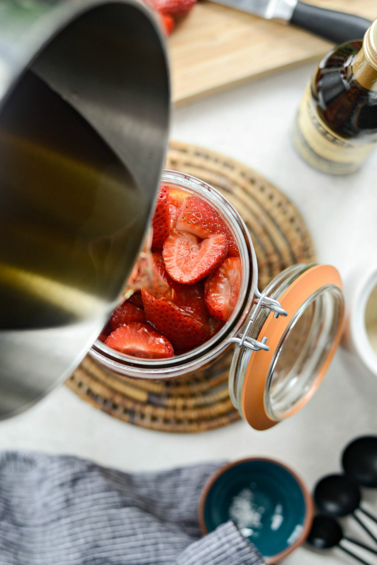 Pickled Strawberries l SimplyScratch.com #homemade #pickled #strawberries #easy #fromscratch #preserving