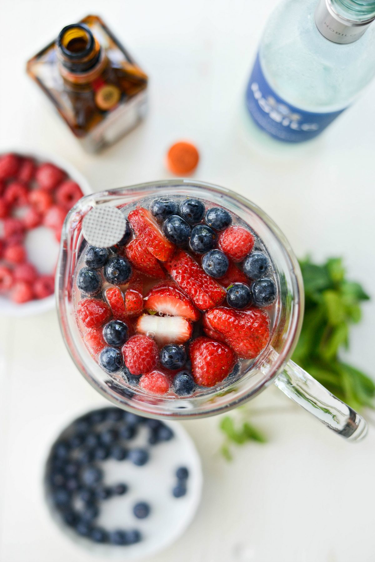 stir the pitcher of Red, White and Blue Sangria