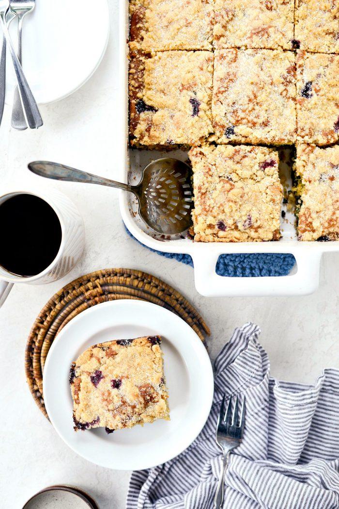 Blueberry Crumb Cake l SimplyScratch.com #homemade #blueberry #crumbcake #fromscratch #cake #dessert