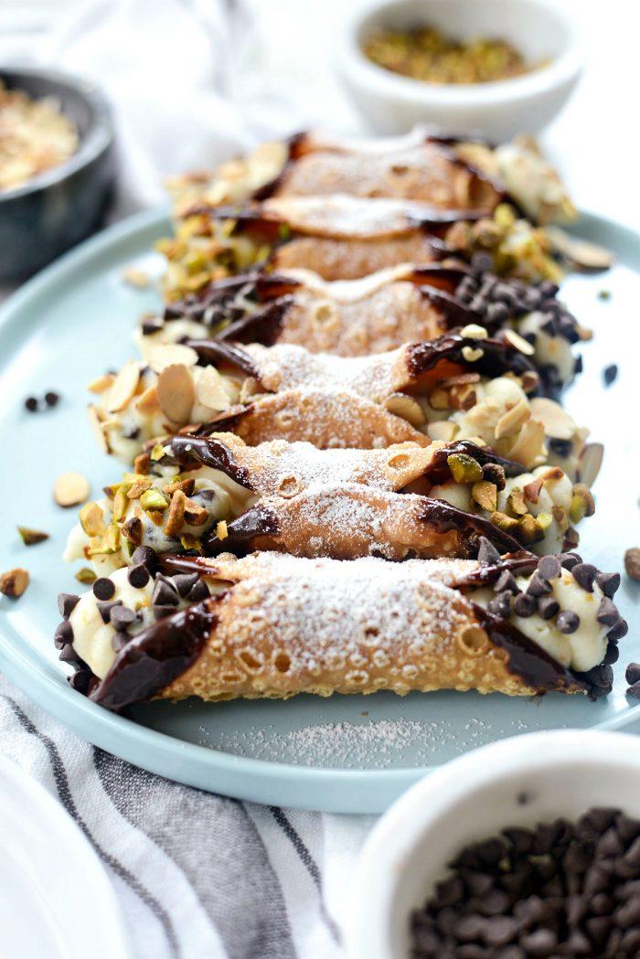 Easy Cannolis l SimplyScratch.com #easy #homemade #cannoli #ricotta #italian #dessert