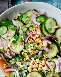 Thai Cucumber Salad Recipe l SimplyScratch.com #cucumber #thai #salad #spicy #easy
