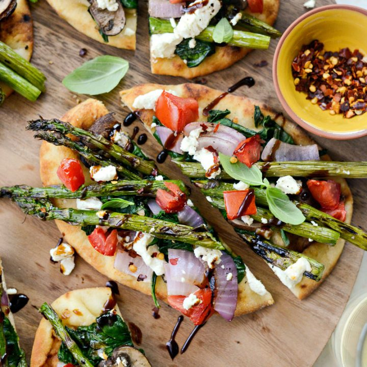 Vegetable and Goat Cheese Flatbread
