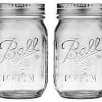 Jarro de bola, Juego de 2 389579 Pint Regular Mason Mouth, Pack Of 2, Clear
