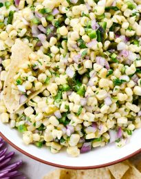 Chipotle's Sweet Corn Salsa l SimplyScratch.com #chipotle #cornsalsa #poblano #sweetcorn #copycat #salsa #recipe
