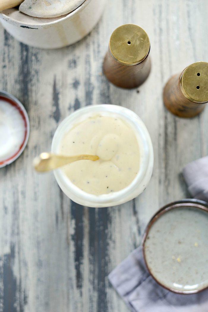 Greek Yogurt Coleslaw Dressing l SimplyScratch.com #greekyogurt #coleslaw #dressing #homemade #lowfat #healthy #lightenedup