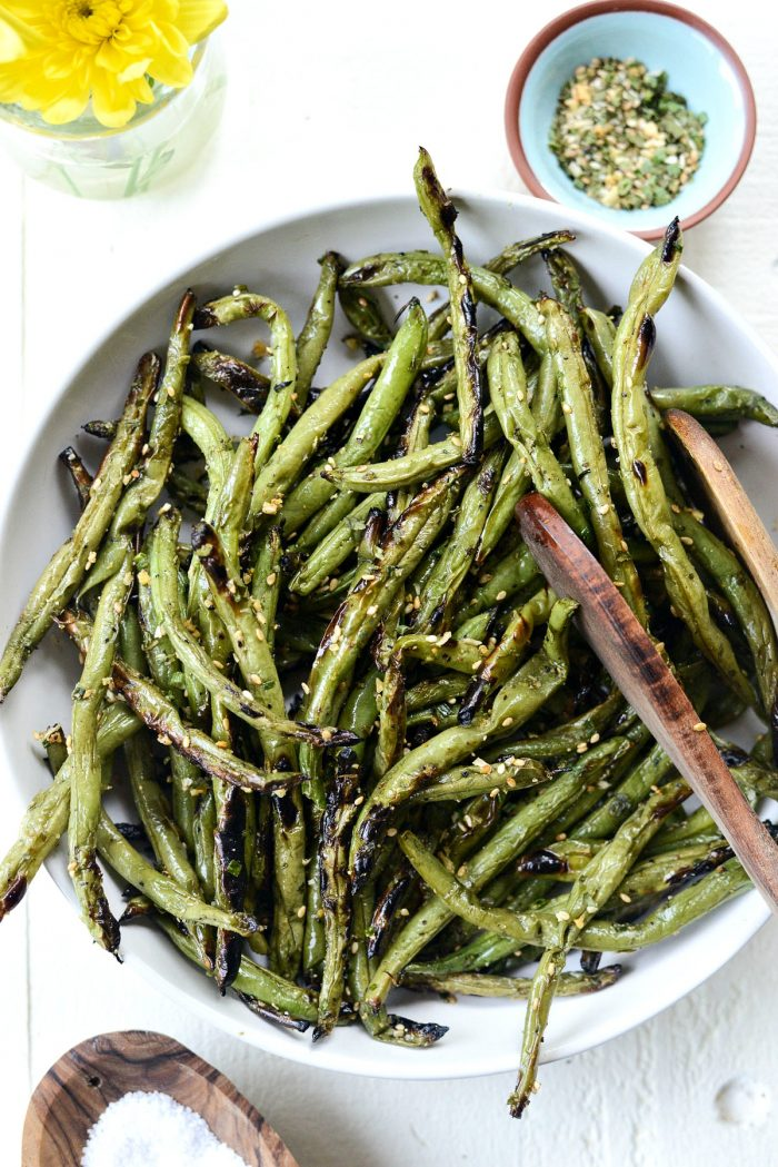 Grilled Green Beans l SimplyScratch.com #grilling #grilled #greenbeans #healthy #easy #sidedish #howtogrillgreenbeans