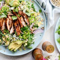 Summer Coleslaw BBQ Chicken Salad