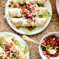 Air Fryer Salsa Chicken Taquitos