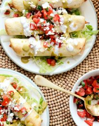 Air Fryer Salsa Chicken Toquitos l SimplyScratch.com #chicken #salsa #airfryer #recipe #toquitos #airfried #easy #dinner