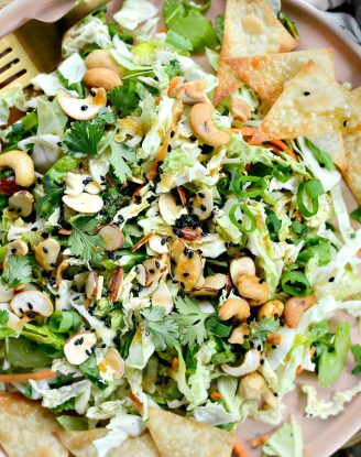 Asian Cabbage Chopped Salad l SimplyScratch.com #chopped #salad #cabbage #asian #cashew #taylorfarms #copycat #recipe