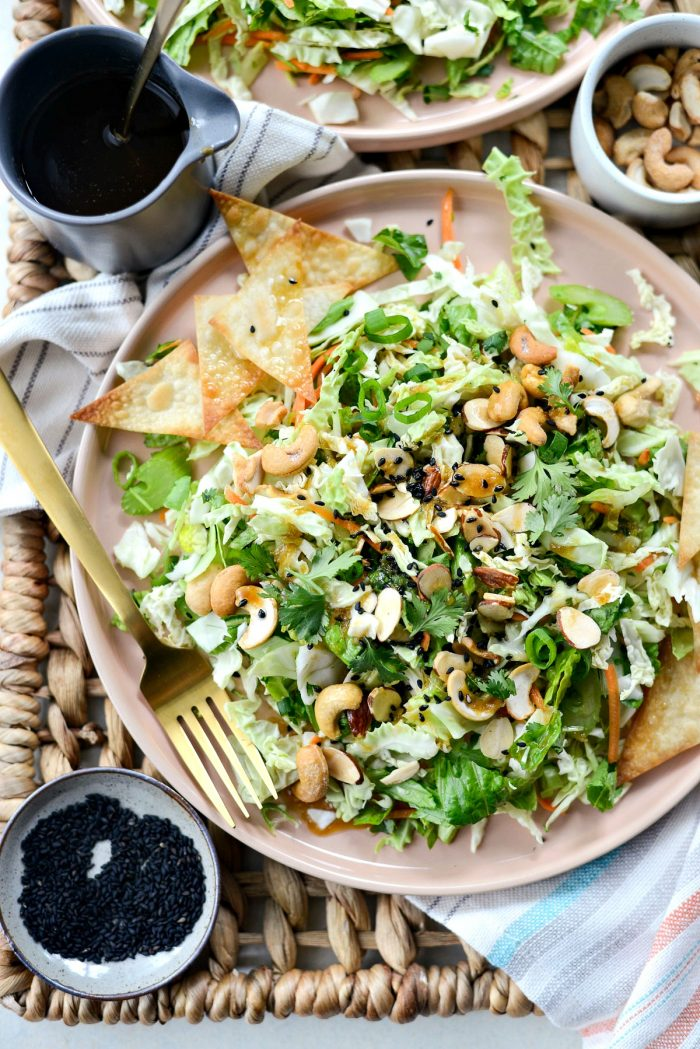 Asian Cabbage Chopped Salad l SimplyScratch.com #chopped #salad #cabbage #asian #cashew #taylorfarms #copycat #recipe