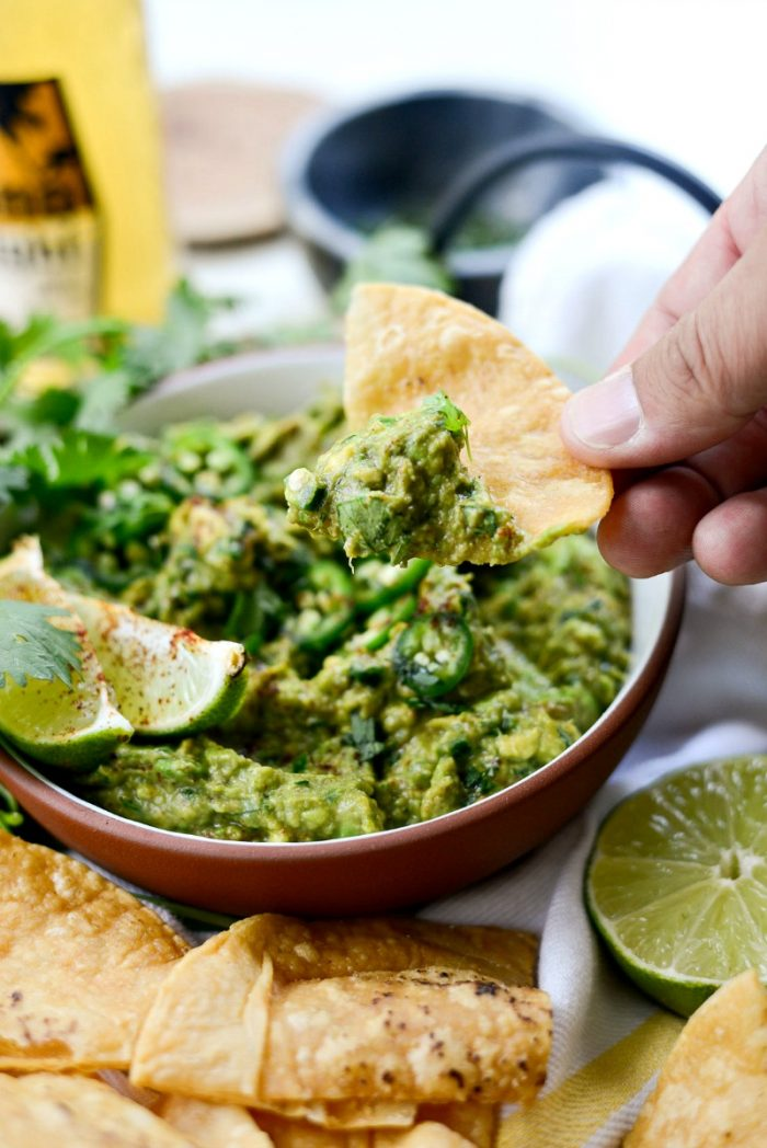 Chile Lime Guacamole l SimplyScratch.com #chile #lime #homemade #guacamole #guac #recipe #texmex #dip #appetizer #snack