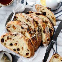 No-Knead Rustic Cinnamon Raisin Bread