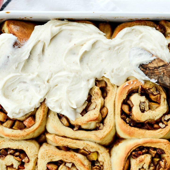 Apple Chai Pecan Cinnamon Rolls