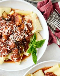 Garden Vegetable Ragu l SimplyScratch.com #vegetable #ragu #sauce #zucchini #summersquash #carrots #homemade #simplyscratch