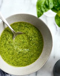 Homemade Basil Pesto l SimplyScratch.com #homemade #basil #pesto #easy #garden #fresh