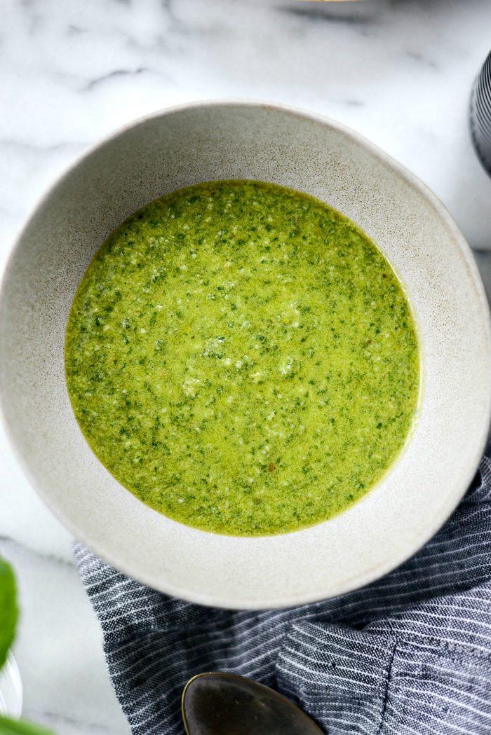 Homemade Basil Pesto l SimplyScratch.com #homemade #basil #pesto #easy #garden #fresh