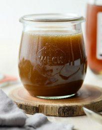 Homemade Butter Rum Sauce l SimplyScratch.com #dessert #topping #fromscratch #homemade #butter #rum #sauce #simplyscratch