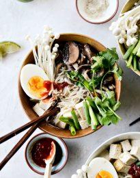 Mushroom Ramen Bowls l SimplyScratch.com #mushroom #ramen #bowls #healthy #bowls #egg #shiitake #cremini #dinner #recipe
