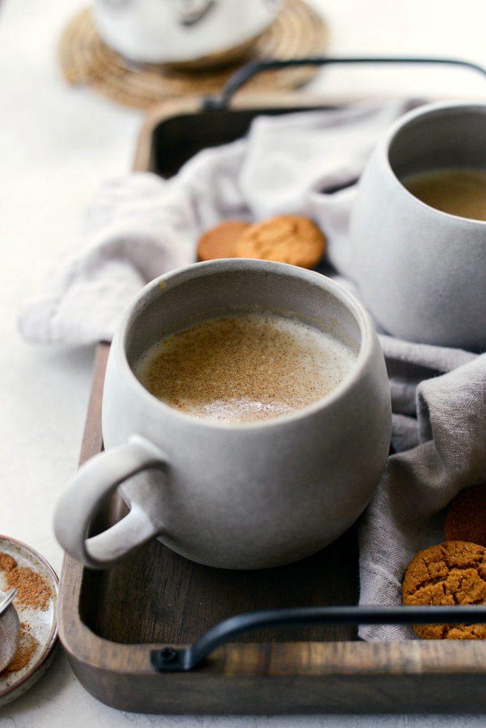 Pumpkin Spice Chai Latte l SimplyScratch.com #pumpkin #pumpkinspice #chai #late #beverage #fall #warm #drink