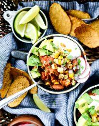 Southwest Three Bean Chicken Chili l SimplyScratch.com #southwest #chicken #chili #beans #lowfat #healthy #easy #simplyscratch