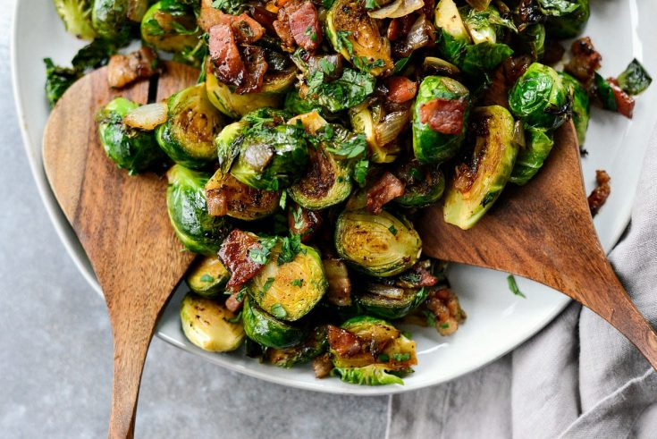 Caramelized Balsamic Glazed Brussels Sprouts Simply Scratch