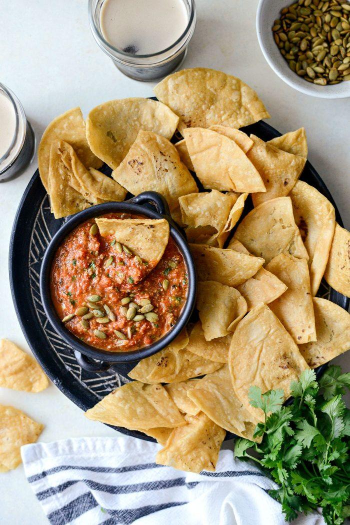 Chipotle Pepita Salsa l SimplyScratch.com #pepita #chipotle #salsa #fall #recipe #easy #appetizer #snack #simplyscratch