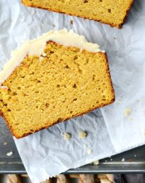 Ginger Pumpkin Bread l SimplyScratch.com #ginger #pumpkin #bread #quickbread #sweetbread #simplyscratch #maple #brownbutter #icing #fall #baking