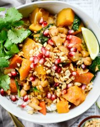 Kabocha Squash Thai Red Curry l SimplyScratch.com #kabocha #squash #thai #redcurry #curry #easy #onepot #dinner #simplyscratch