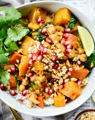 Kabocha Squash Thai Red Curry l SimplyScratch.com #kabocha #squash #thai #redcurry #curry #easy #onepot #dinner #simplyscratch