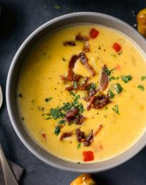 Pumpkin Beer Cheese Soup l SimplyScratch.com #pumpkin #beer #cheddar #cheese #soup #fall #recipe #onepot #easydinner #dinner