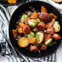 Smoked Sausage and Vegetable Sheet Pan Dinner