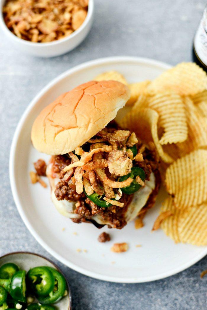 Spicy Jalapeño Sloppy Joes l SimplyScratch.com #spicy #sloppyjoes #jalapenos #homemade #fromscratch #easydinner #recipes