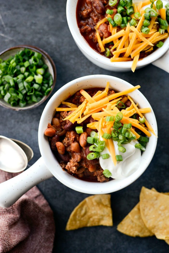 Easy Loaded Beef Chili - Easy Weeknight Meals