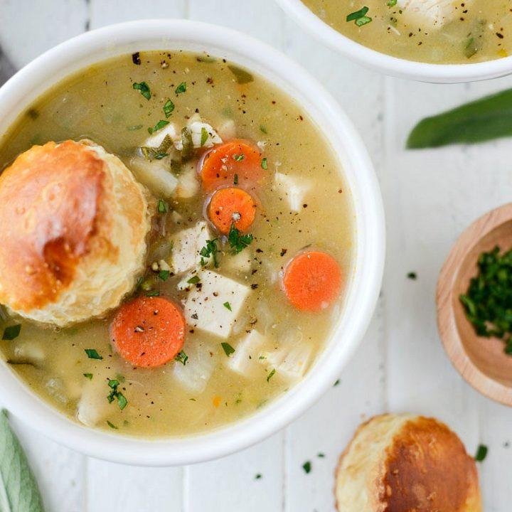 Homemade Turkey Pot Pie Soup