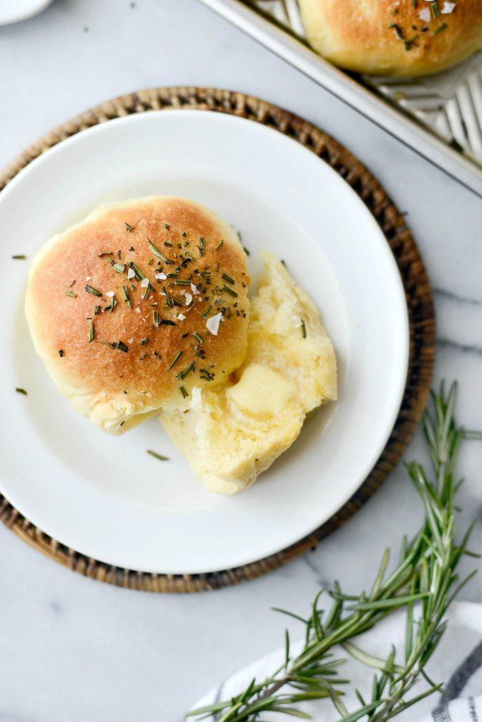Sea Salt Rosemary Dinner Rolls l SimplyScratch.com #homemade #fromscratch #easy #dinner #rolls #thanksgiving #holiday #christmas #bread