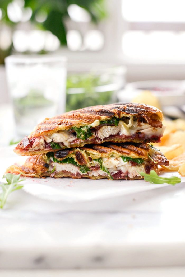 Turkey Cranberry Croissant Panini in Thanksgiving Leftover Recipes