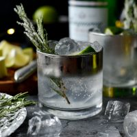 Classic Gin and Tonic l SimplyScratch.com #gin #tonic #lime #sugared #rosemary #adult #beverage #alcoholic #drink #holiday
