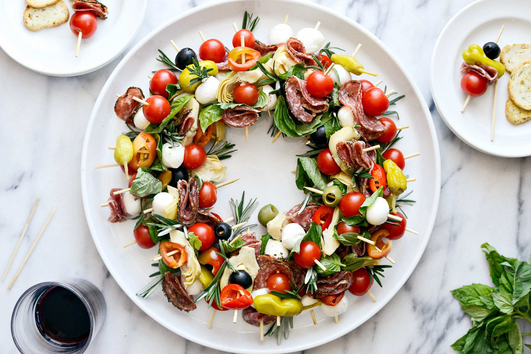 Holiday Antipasto Wreath Simply Scratch