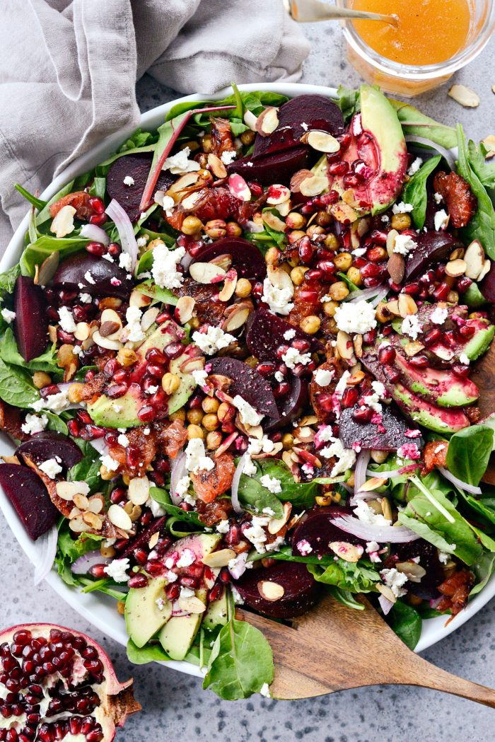 Roasted Grapefruit Beet Salad l SimplyScratch.com #grapefruit #beet #salad #holiday #christmas #healthy