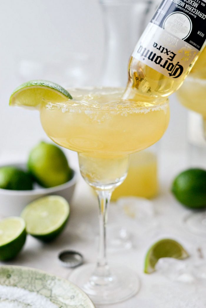 Beergaritas l SimplyScratch.com #gameday #beermargarita #coronita #adultbeverage #alcholicdrink #drink #beverage