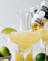 Beergaritas l SimplyScratch.com #gameday #beermargarita #coronita #adultbeverage #alcholicdrink #drink #beverage