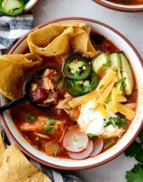 Chicken Tortilla Soup l SimplyScratch.com #homemade #easy #chicken #tortilla #soup #fromscratch