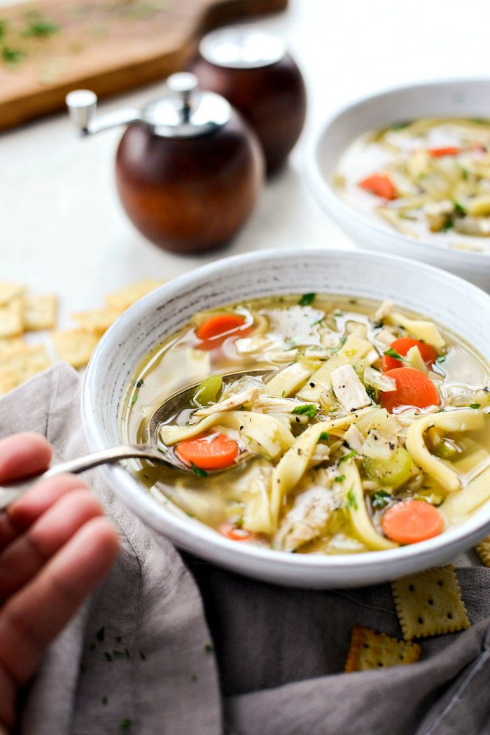 Homemade Chicken Noodle Soup l SimplyScratch.com #fromscratch #chicken #noodle #chickennoodlesoup #homemade #chickensoup