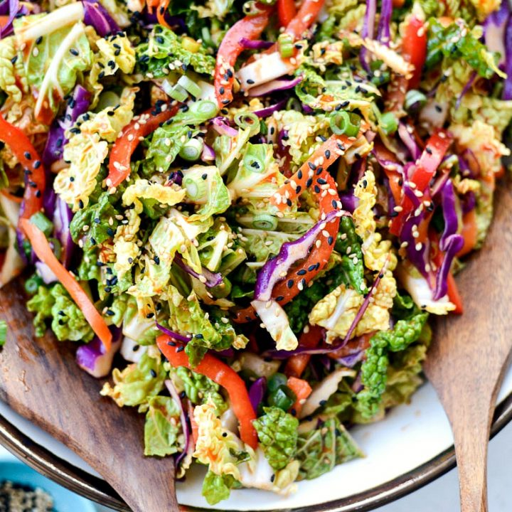 Spicy KoreanVegetable Slaw l SimplyScratch.com #korean #spicy #ginger #carrot #slaw #healthy
