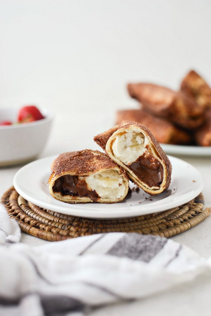 Air Fryer Cheesecake Chimichangas l SimplyScratch.com #airfryer #airfried #airfry #recipe #cheesecake #chimichanga #easy