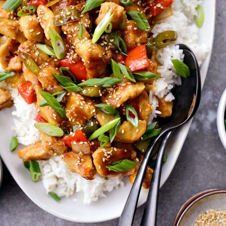 Healthy Sesame Chicken Simply Scratch