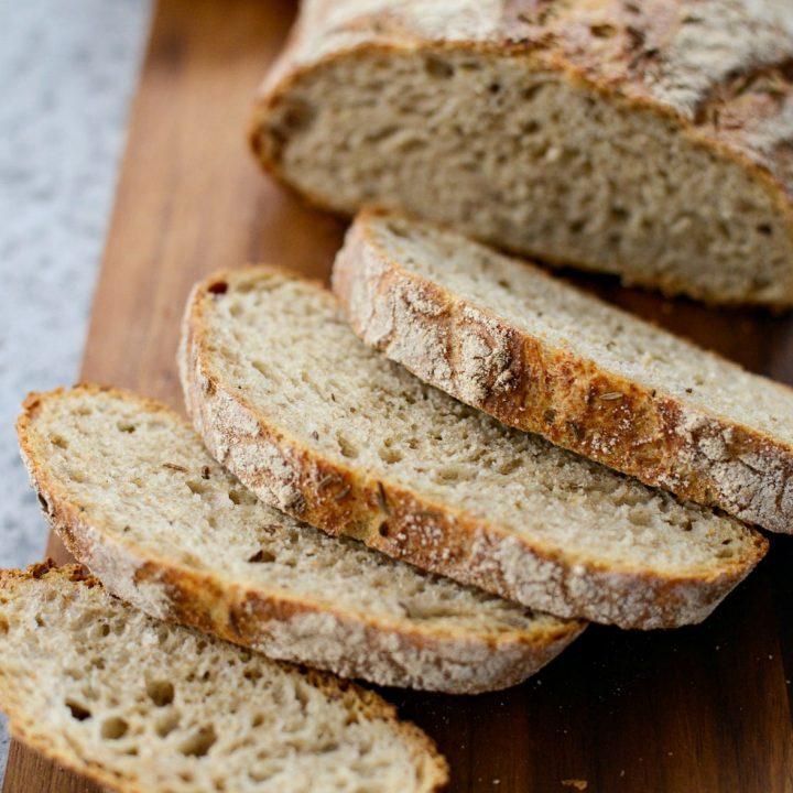 No-Knead Rye Bread