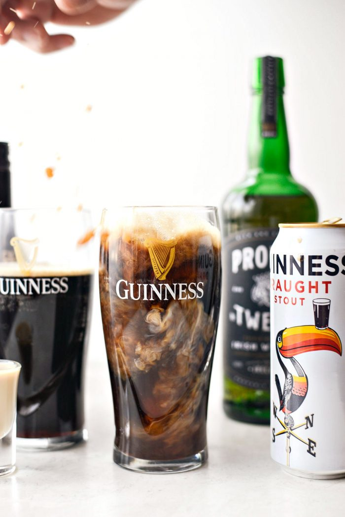 whiskey and baileys in Guinness