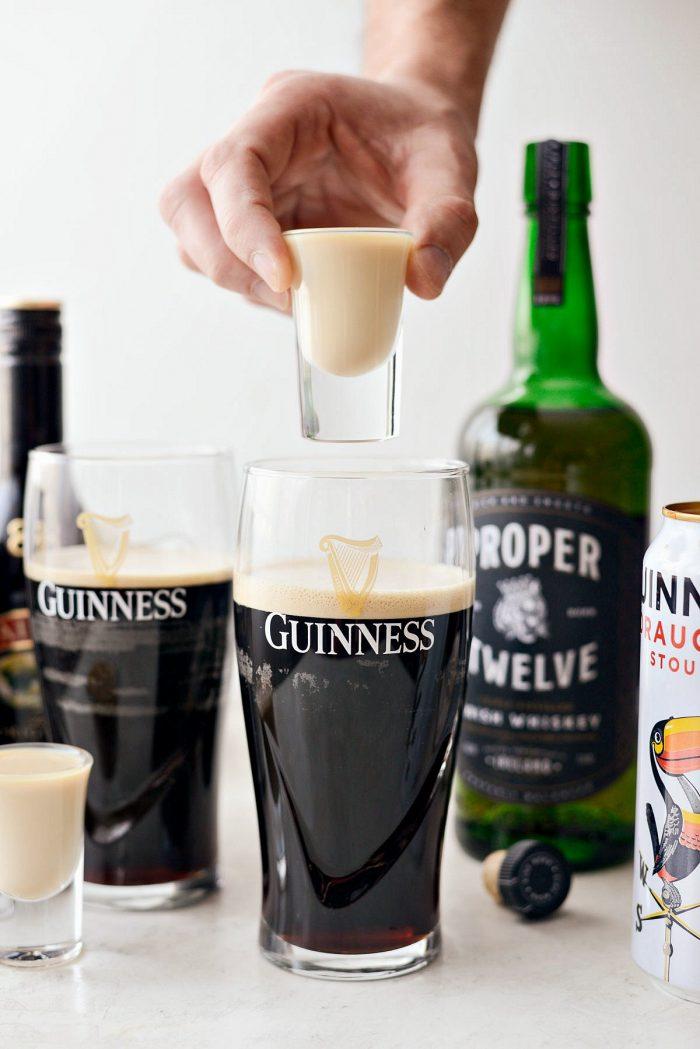 Irish Slammer before shot of baileys and whiskey
